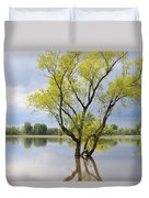 Iowa Flood Plains Duvet Cover