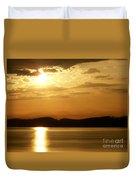 Iowa River Sunset V3 Duvet Cover