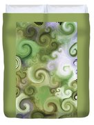 Iphone Green Swirl Abstract Duvet Cover