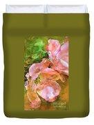 Iphone Pink Rose Digital Paint Duvet Cover