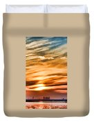 Iphone Sunset Digital Paint Duvet Cover