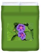 Ipomea Acuminata Morning Glory Duvet Cover
