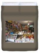 Iran Shiraz Shop Owner Duvet Cover by Lois Ivancin Tavaf