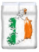 Ireland Painted Flag Map Duvet Cover