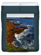 Ireland Rocky Coast Duvet Cover