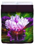 Iridescent Iris Duvet Cover