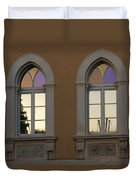 Iridescent Pastels At Sunset - Syracuse Arched Windows Duvet Cover