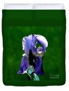 Iris Blues Duvet Cover