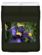 Iris Close Up Duvet Cover