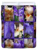 Iris Collage Duvet Cover
