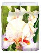 Iris Flower Dancing Petals Duvet Cover