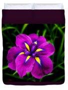 Iris Flower Duvet Cover