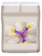 Lily Flower Macro Photography Duvet Cover