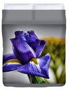Iris Flower Macro Duvet Cover