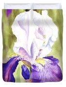 Iris Flower Purple Dance Duvet Cover