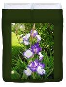 Iris Flowers Duvet Cover
