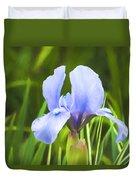 Pale Purple Iris - Impressions Of Spring Duvet Cover