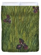 Iris In A Field Duvet Cover