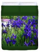 Iris In The Field Duvet Cover