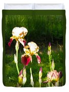 Iris In The Sun Duvet Cover