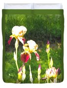 Iris In Watercolor Duvet Cover