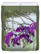 Iris Purple Lavender Duvet Cover
