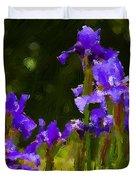 Iris Radiance Duvet Cover
