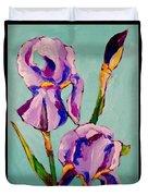 Iris Study Duvet Cover