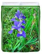 Iris Swirl Duvet Cover
