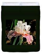 Iris White To Pink Duvet Cover