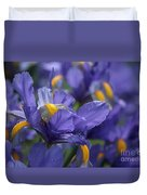 Iris With Raindrops Duvet Cover