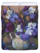 Irises Duvet Cover by Diane McClary