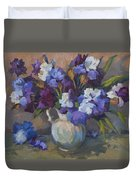 Irises Duvet Cover by Diane McClary