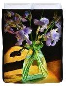 Irises In Morning Light Duvet Cover