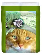 Irish Cat Duvet Cover