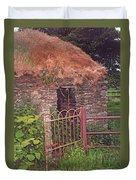 Irish Cottage Of Long Ago Duvet Cover