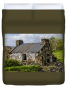 Irish Cottage Ruins Duvet Cover