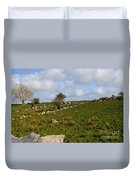 Irish Farms And Fields Duvet Cover