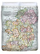 Irish Free State And Northern Ireland From Bacon S Excelsior Atlas Of The World Duvet Cover