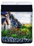 Irish Garden Water Color Duvet Cover