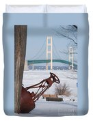 Iron Buoy And Mighty Mac Duvet Cover