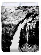 Iron Creek Falls Bw Duvet Cover
