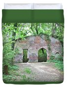 Iron Foundry Ruins Duvet Cover