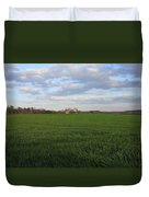 Great Friends Iron Horse Wheat Field And Silos Duvet Cover