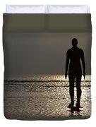 Iron Man Waiting For Sunset 1 Duvet Cover