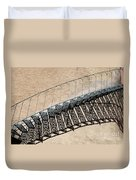 Iron Stairs Shadow Duvet Cover