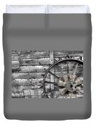 Iron Tractor Wheel Duvet Cover