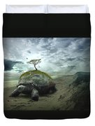 Iroquois Creation Story Duvet Cover
