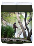 Is The Fisherman Real? Duvet Cover
