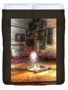 Is This Right Mr. Edison? Duvet Cover